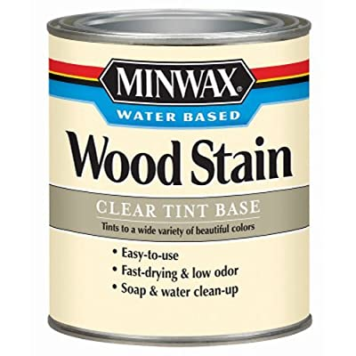 Minwax 61807 Water-Based Wood Stain Clear Tint Base, 1-Quart