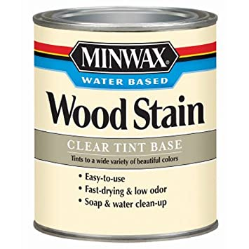 Minwax 618074444 Water Based Wood Stain Quart Clear Tint Base