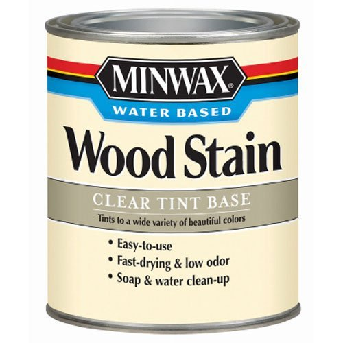 Minwax 618074444 Water-Based Wood Stain, quart, Clear Tint (Water Based Wood Stain)