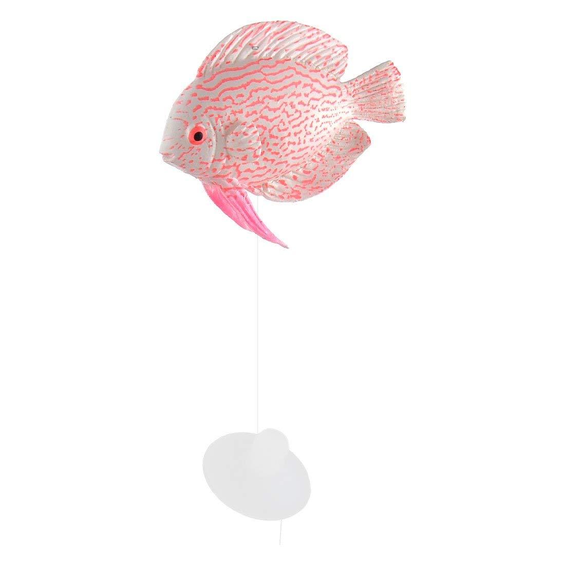 Dolphin Shape Plastic Aquarium Fish Tank Ornament 8 Pcs White Purple