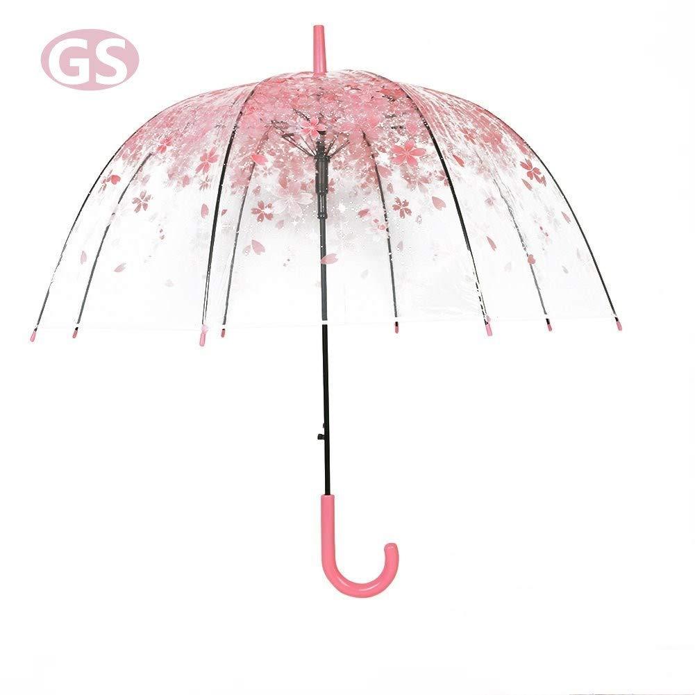 Original y romántico paraguas con estampado de flores y aàrtura automática. Opción de colores.