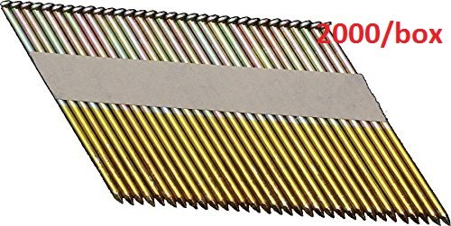 OrionPower OPN-1 Clipped Head 3-1/2 Inch X .120 Inch X 34 Degree Hot Dipped Galvanized Smooth Shank Paper Tape Collated Framing Nails