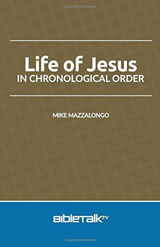 Life of Jesus in Chronological Order PDF
