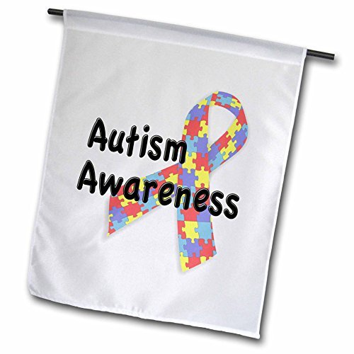 Beautiful Autism Awareness Autism Speaks Garden Flag Double Sides Polyester Decorative Flag for Home Yard Decorations 12 x 18