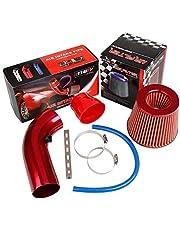 "Universele Auto Koude Luchtinlaatfilter: Pindex Rode Pijp Diameter 3 ""Alumimum Inductie Kit Pijp Slang Systeem Carbon"