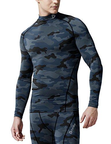 (テスラ) TESLA メンズ 長袖 ハイネック スポーツシャツ [UVカット?吸汗速乾] メッシュ MUT