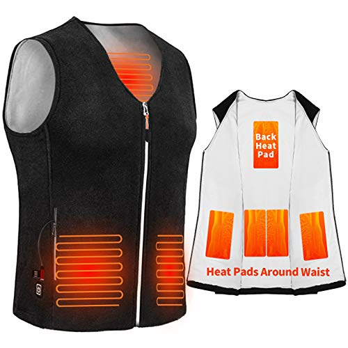 Anoopsyche Electric Heated Vest, USB Charging Heated Jacket for Men and Women 3-level Heating for 8 Hours, 5 Heating…
