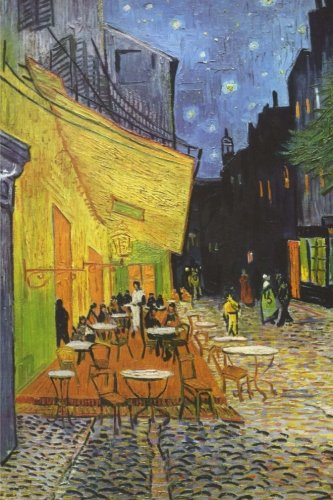 - Cafe terrace at night: Blank Journal; Vincent van Gogh notebook / composition book, 140 pages, 6 x 9 inch (15.24 x 22.86 cm) Laminated