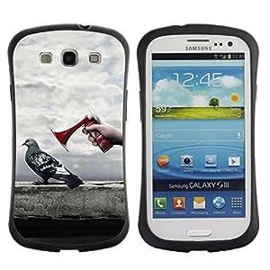 Hybrid Anti-Shock Bumper Case for Samsung Galaxy S3 / Pigeon