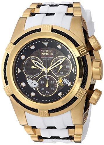 Invicta Men's Character Collection Quartz Watch with Silicone Strap, White, 36.8 (Model: 25006)