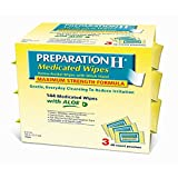 Preparation H Medicated Wipes with Aloe, 144 ct. (pack of 6)