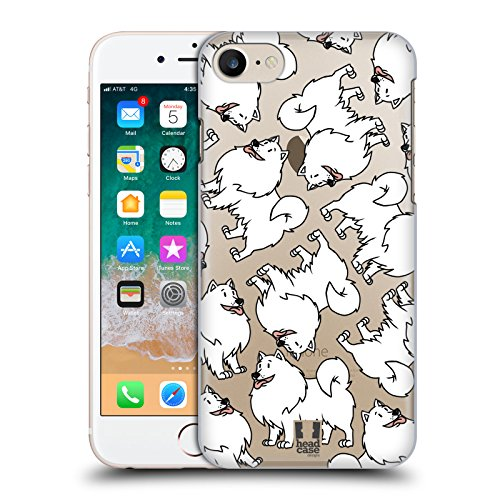 erican Eskimo Dog Breed Patterns 13 Hard Back Case for Apple iPhone 7 / iPhone 8 ()