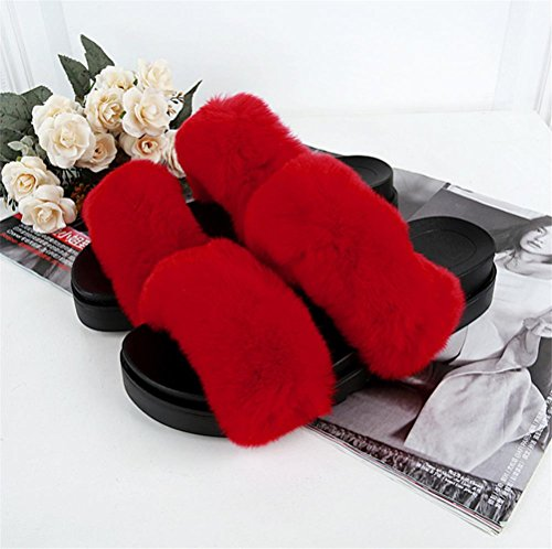 Mujeres Invierno Casa Las 37 Cálido De Indoor Zapatillas Y Ocio Otoño Felpa 3 pnBRURdqA