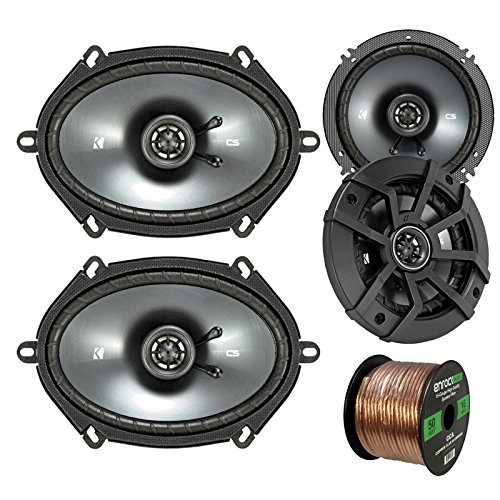 Car Speaker Set Combo Of 2 Kicker 40CS654 6.5' 600W 2-Way CS-Series Car Audio Speakers, 2 Kicker...
