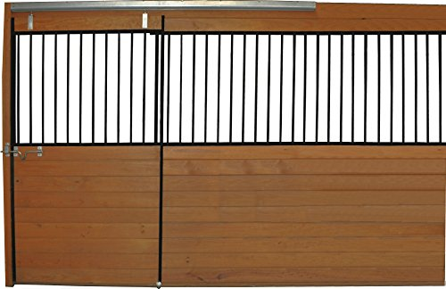 Country Manufacturing PS12GF 12ft Horse Stall Front Kit Black Enamel Coated Steel by Country Manufacturing (Image #2)