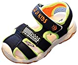 VECJUNIA Boy's Girl's Outdoor Sandals Closed-Toe Low Top Anti-Skid Athletic Running Sandals (Dark Blue, 6.5 M US Toddler)