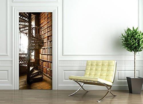Türtapete selbstklebend TürPoster - BIBLIOTHEK - Fototapete Türfolie Poster Tapete