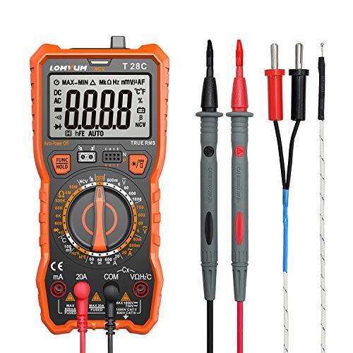 Digital Multimeter, 6000 Counts Electrical Tester AC/DC Voltage Current Detector, NCV, Resistance, Capacitance, Diode Electronic, Duty Cycle Tester, (Manual Ranging Digital Multimeter)
