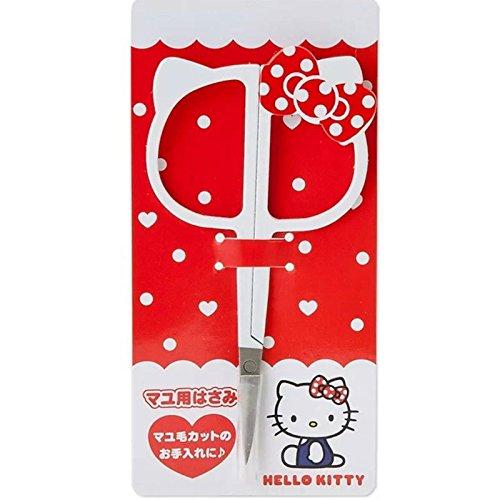Red Dot Bowknot Hello Kitty Cute Cartoon Beauty Eyebrow Scissors