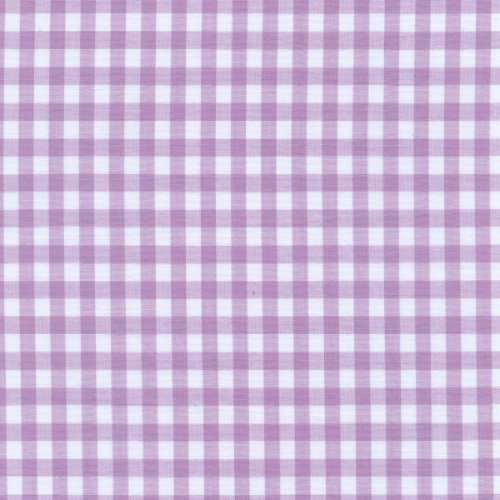 Lilac Gingham Check Fabric (1/4