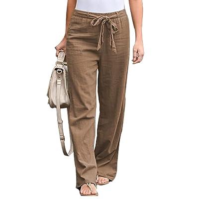 PLUS Size Cargo Pants 100/% Cotton Baggy Trousers Elastic Waist /& Drawstring