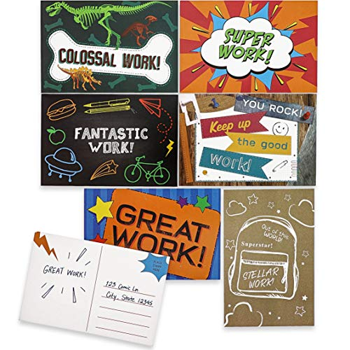 Juvale 96-Pack Classroom Motivational Teacher Postcards for Students, 12 Designs, 6 x 4 Inches