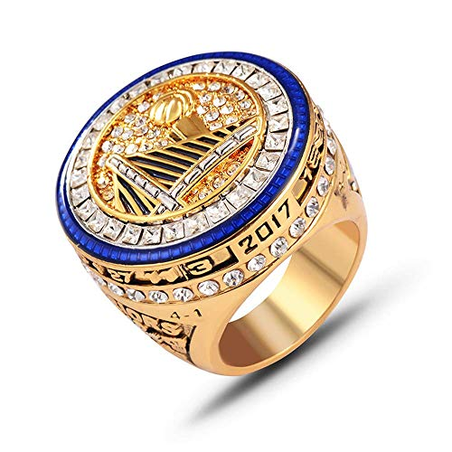 Flying Dreamer 2016-2017(Golden-State-Warriors) Championship-Rings-Size 11-Memorabilia with Beautiful -