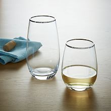 Stemless Glassware - Gold Rimmed | west elm