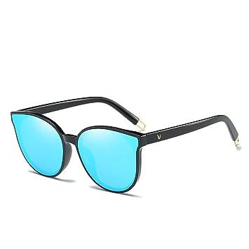 ZHFJGKR&ZL Gafas de Sol para Mujer con Monos Planos Cat Eyes ...