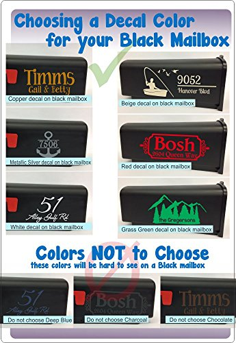 Personalized Vinyl Mailbox Decals Letters Custom Street Address Stickers, Set of 2 Jumbo by Wall Decor Plus More (Image #4)