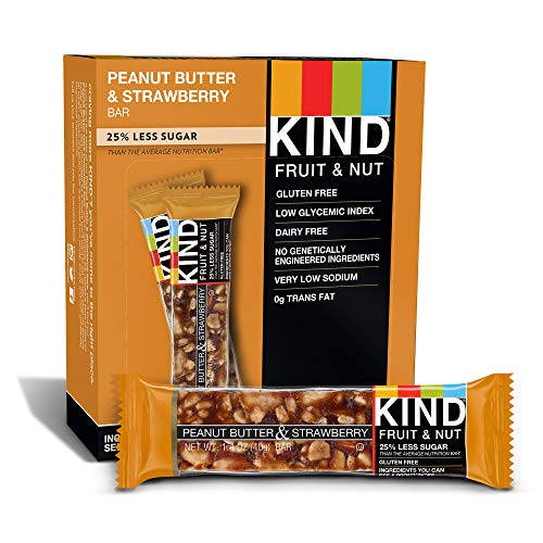 1.4 Ounce Bars - KIND Bars, Peanut Butter & Strawberry, Gluten Free, 1.4 Ounce Bars, 12 Count (Packaging May Vary)