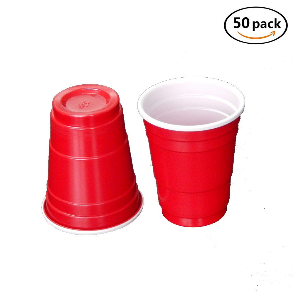 Verres à liqueur jetables - Mini tasses solo rouge - 120 unités 2 oz - Tasses en plastique - Jello Shots - Jager Bomb - Bière Pong - Format idéal pour servir des condiments, des collations, des échantillons et des dégustations Lyanther