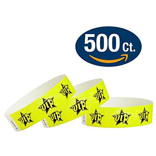 Yellow VIP Star Wristco Wristbands product image