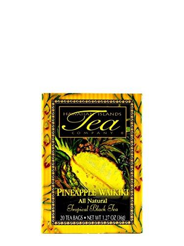 Pineapple Waikiki Black Tea (20 Tea Bags, Tropical, Flavored, All Natural) by Hawaiian Islands Tea Company (Pineapple Tea)