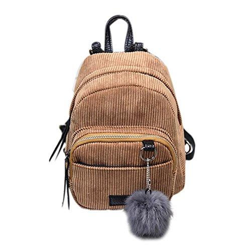 las ocasionales Las hombro empluman mujeres la de marron la simples Backpacks retras lona de muchachas viajan mini haciendo bolso el Espeedy las compras bola la señoras bolsos de Las de claro manera pwOHwqd