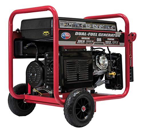 All Power America 10000 Watt Dual Fuel Generator w/ Electric Start, APGG10000GL 10000W Gas/Propane Portable Generator, - Propane Gas Generator