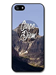 Carpe Diem Quote on Cool Mountain Style Design case for iphone 4s