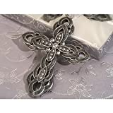 Blessed Events Elegant Hanging Cross Keepsake - 96 Pieces