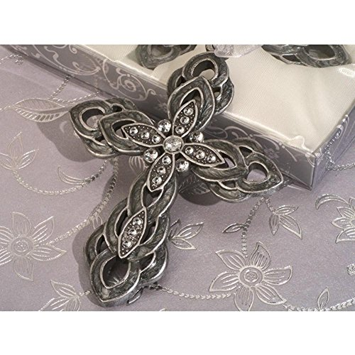 Blessed Events Elegant Hanging Cross Keepsake - 96 Pieces by Cassiani