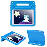 HDE Case for iPad 9.7 inch 2018 / 2017 Kids Shock Proof Bumper Cover Stand with Handle for New 6th Gen Apple Education iPad (Integrated Apple Pencil Holder) and 5th Generation iPad 9.7' - Blue