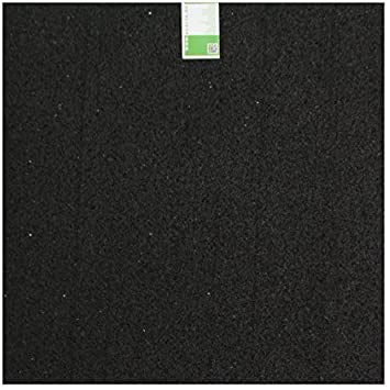 acerto 31698 Alfombra antivibraciones - Estera de la lavadora - 60x60x2cm - Caucho granulado