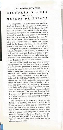 Historía y Guía de los Museos de España.: Amazon.es: JUAN ANTONIO GAYA NUÑO: Libros