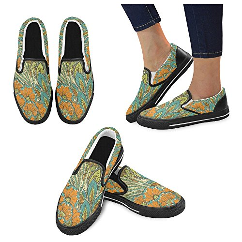 Unik Debora Anpassade Mode Kvinna Gymnastikskor Ovanliga Loafers Slip-on Tygskor Multicoloured21