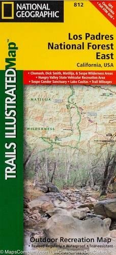 Los Padres National Forest Map - Los Padres National Forest East (National Geographic Trails Illustrated Map)