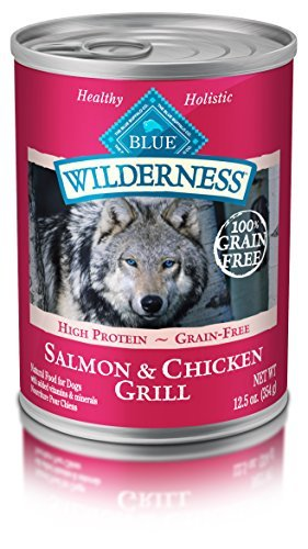 Blue Buffalo Salmon Dinner (Blue Buffalo Wilderness Salmon Dinner - Grain Free 12.5 oz by BLUE Wilderness)