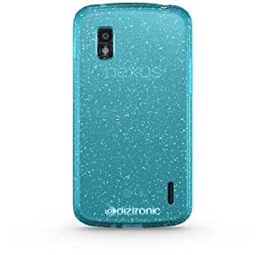 Diztronic Blue GlitterFlex TPU Case for LG Nexus 4 - Retail Packaging