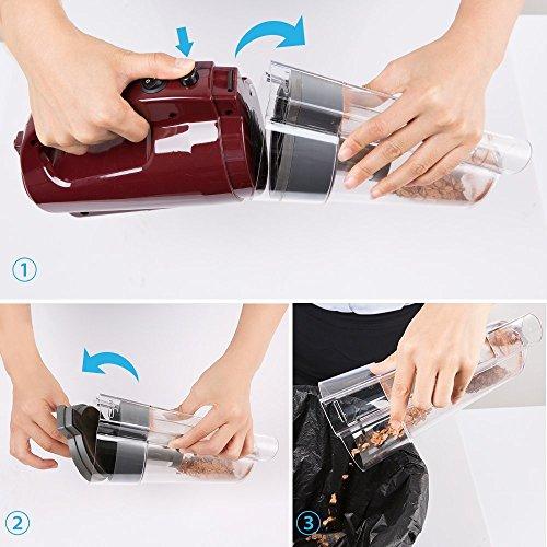 handheld vacuum cleaner bestek cordless rechargeable with 3 8kpa powerful ebay. Black Bedroom Furniture Sets. Home Design Ideas
