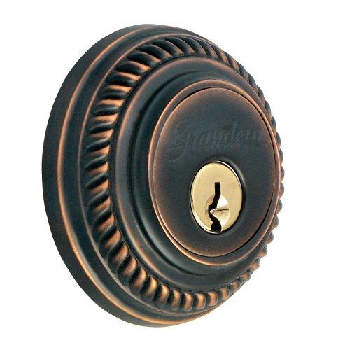 Grandeur GS60-NEWNEW-KD-TB Newport Deadbolt, Single Cylinder, Timeless Bronze Finish from Grandeur