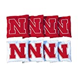 Victory Tailgate NCAA Regulation Cornhole Game Bag Set (8 Bags Included, Corn-Filled) - Nebraska Cornhuskers