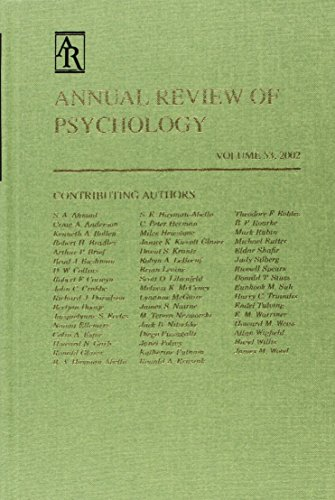 Annual Review of Psychology: 2002